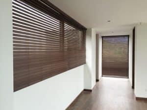 persianas madera bamboo wenge